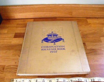 Coronation Souvenir Book 1937 King George VI, also brief history og King Edward and Mrs Simpsom