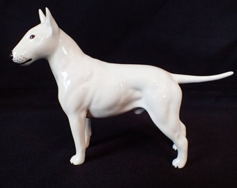 "Beswick England Bull Terrier ""Romany Rhinestone"" Dog Figurine/ Retired Large"