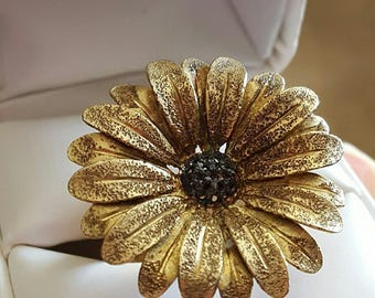 Vintage Sterling Silver Daisy Ring by RCI Size 8