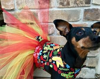 Feliz Navidad Tutu Dog Dress | Christmas Dog Dress | Small Dog Costume | Large Dog Costume