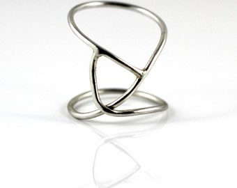 Sterling silver geometric Ring - sterling silver Jewellery - statement ring - Jewelry Vancouver Island Canada