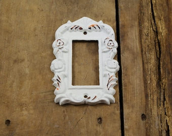 Special Listing for Mandy Kowalski White Cast Iron Wide Modern Switch Plate cover