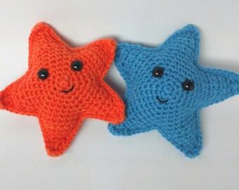 Starfish Critter  - handmade crochet sea creature gift/toy