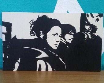 Outlander Claire and Jamie Fraser stencil