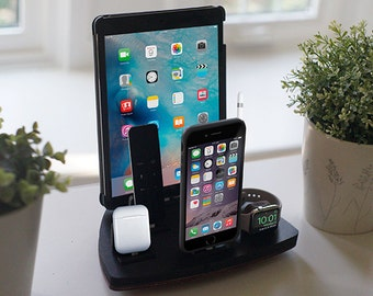 NytStnd FIVE Midnight - FREE SHIPPING Charging Station Wireless iPhone 8 iPad Apple Watch Apple Tv Airpods Christmas Birthday Gift
