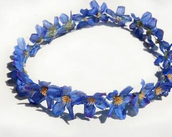 Navy Blue Flower Crown