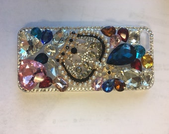 iPhone 5 Crown Style -9, Beautiful Mobile Cover, iPhone Clear Case, iPhone Case, iPhone 5 Mobile Case Crystals, Mobile case, iPhone Cover
