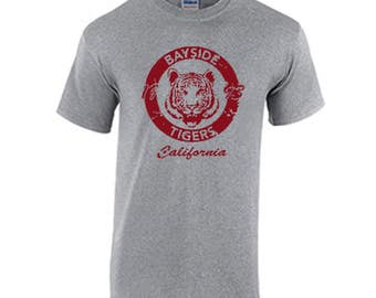 Bayside Tigers High School Tee Shirt Fans saved by the bell the college years the new class  Zack Morris  Screech Lisa Turtle A.C. Slater