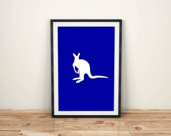 Animal Print Nursery Animal Print Nursery Décor Nursery Print Nursery Art Zoo Animals Kangaroo Print Kangaroo Art Print Australian Animal