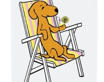 Dachshund Card - Summertime Fun