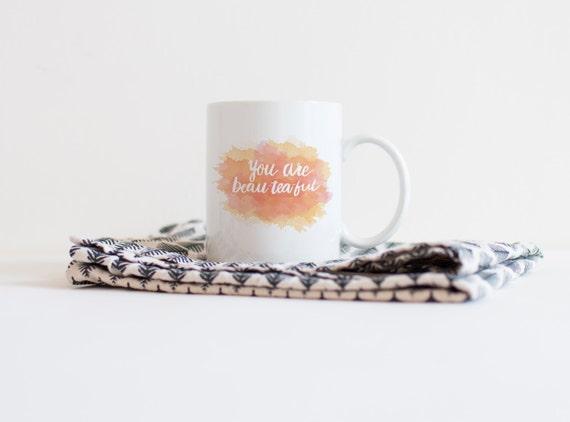 Ceramic Coffee mug 11oz, Tea mug, inspirational mug, watercolor mug, gift mug, stocking stuffer, Renewed Daily Mug,Beautiful,tea mug