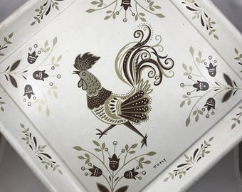 Mid-Century Rooster Tray