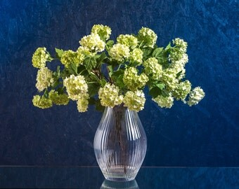 Cream and Green Faux Viburnum Arrangement