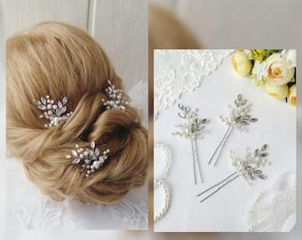 Swarowski Wedding hair pins,hair vine,pins, Bridal  hair pins, hair pins, Bridal headpiece,Bridal hairpiece Wedding hair3