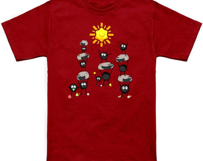CANDY SUN Howls Moving Castle Sootballs Calcifer Geek T-Shirt Nerd Anime Shirt Studio Ghibli Hayao Miyazaki