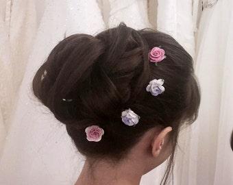 Flower Hair Pins Bridesmaid Flowergirl Hair Clips