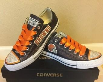 Cleveland Browns Glitter Bling Converse