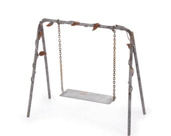 Rustic swing etsy for Mini swing set
