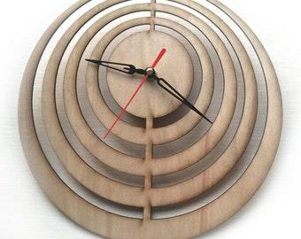 Laser cut Wall Clock, Laser Cutting Wood Clock, Modern Design Laser Cut Clock, Darts Wall Clock, Unique Clock, Minimalist Clock