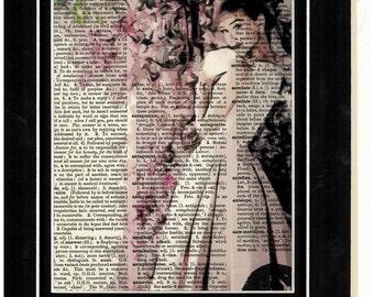 272 Audrey Hepburn Vintage Dictionary Art Prints