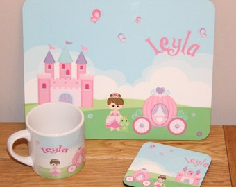 Personalised Chrildrens Placemat Set (different designs also available)