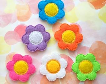 Flower Felties, Felt Applique, Spring Felties, Summer Felties