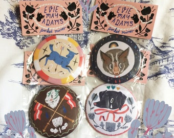 Pocket Mirrors! (4 designs)