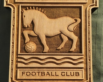 Ipswich Town Wooden Plaque