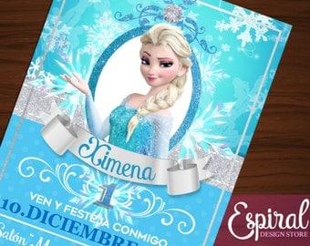 Frozen Elsa invitation printable