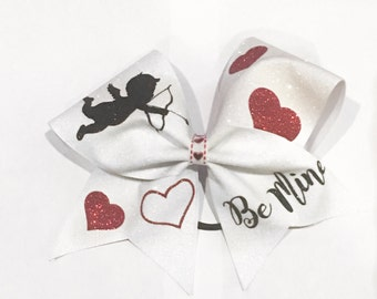 Be Mine Valentines Day Cheer Bow