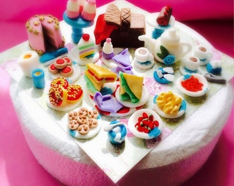 Tea Party Tea Set #2 Cupcake or Cake Toppers