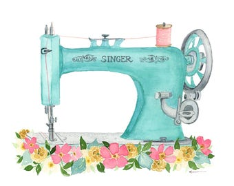 Vintage Sewing Machine INSTANT DOWNLOAD