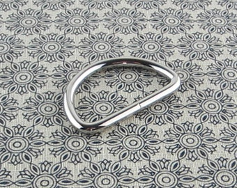 1.5 inch (inner diameter) Silver D-ring 10 pieces 3.5MM thickness