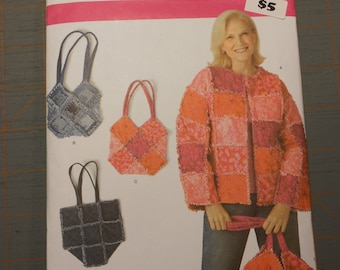 Simplicity Pattern #3898 = Jacket & Bags Patterns