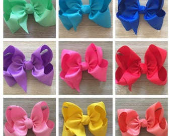 Choose your color! Extra Large Hair Bow, Basic Girl Hair Bow,  Jumbo Hair Bow, Large Hair Bow