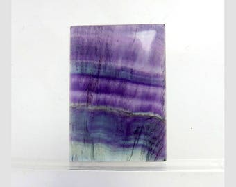 Amethyst Multi Fluorite 21X27X5mm Rectangle Shape Excellent!! Loose Gemstone Cabochon Gemstone For Jewelry Making 38Cts B-5814