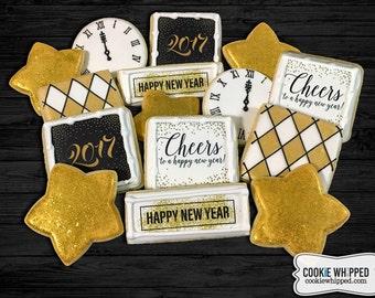 New Year's Eve Cookie Combo Set - 1 Dozen