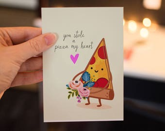 You Stole a Pizza My heart Greeting Card