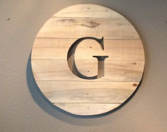 Pallet Personalized Wall Hanging, Wooden Wall Sign, Wooden Wall Decor, Intial Wood Sign, Intial Wooden Sign