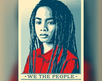 We The People poster, women's march