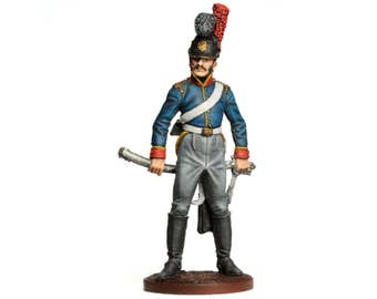 Tin Soldier - Portugese Soldier, Portuguese Cavalryman, Napoleonic Wars, Historical Miniature, Military Miniature, Pewter Soldier, 54 mm,