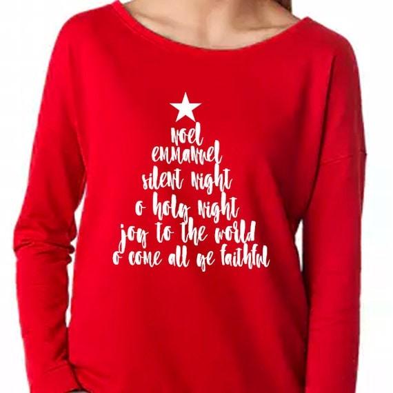 Christmas Carol Shirt, Christmas Christian Shirt, Noel Shirt, Christmas Songs Shirt