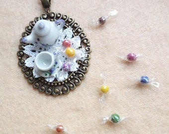 Necklace chain the miniature dollshouse fimo
