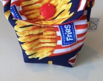 Bag has pacifier frit