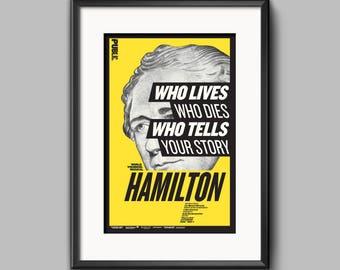 Hamilton Musical Poster - Public Theater - 11x17