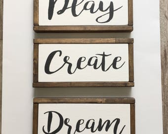 Wooden sign - painted wooden sign - kids sign