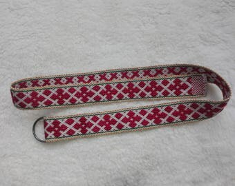 Unique Woven Belt with Double D-ring buckle