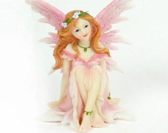 """Sitting Fairy - pink - 4.5 """" tall - 1 pc - #50244-2MDI"""