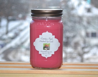 SALE Country Apple 16oz Mason Soy Candle