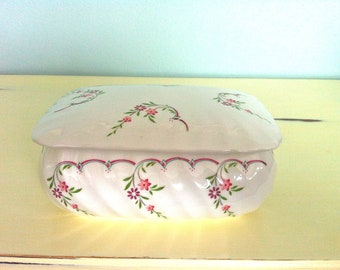 Jamestown China Large Trinket Box/Porcelain Trinket Box/Large Porcelain Keepsake Box/Porcelain Jewellery Box/Trinket Dish/Porcelain Box